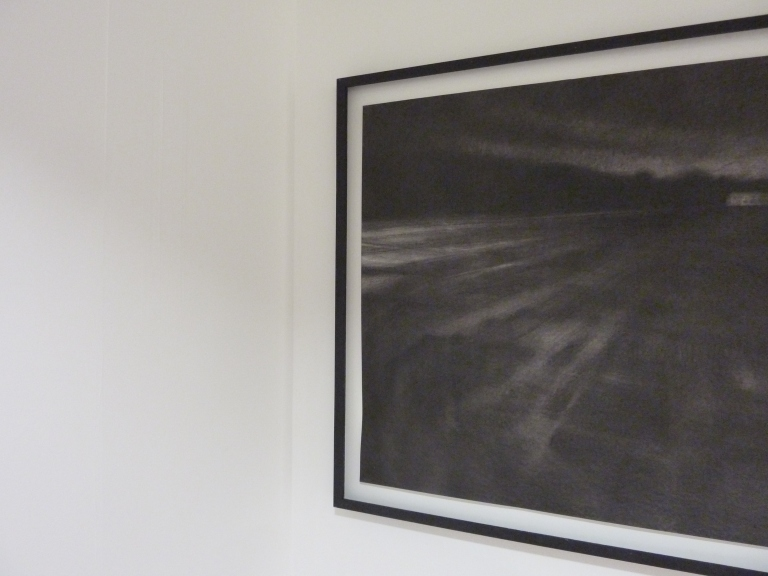 kate boucher 'untethered' 2015, compressed charcoal on paper, 110cm x 140cm